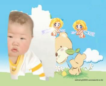 上一张  下一张  查看原图 相片描述:我好想像小天使一样!